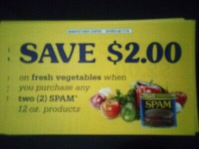 Hormel Spam 10 $2 Coupons Expires 8/17/19