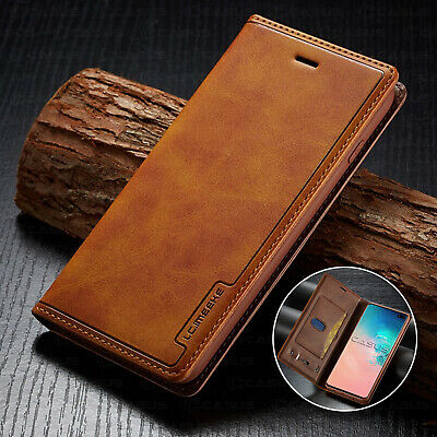Leather Wallet Sim Card Magnetic Flip Cover Case For Samsung Galaxy S10/S9+ Plus