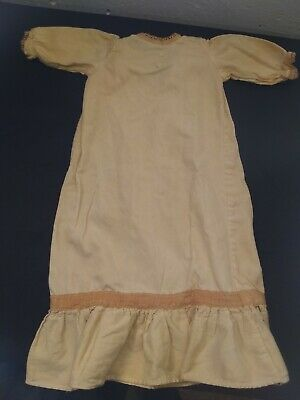 """Vintage Antique handmade Baby Gown, lace, 22"""" long"""