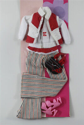 5in1 Fashion top jacket +vest +pants+shoes+bag FOR 11.5in.Doll Clothes Outfit