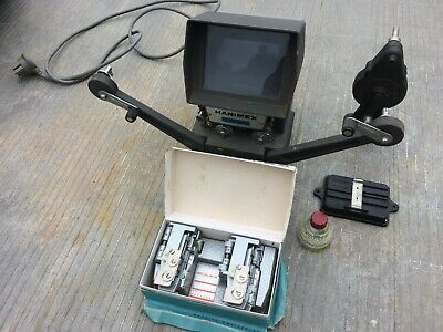 vintage 8 and super 8 film equipment for viewing and splicing, Hanimex and Bolex