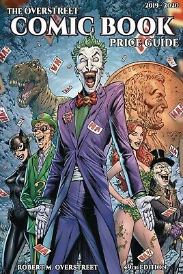 OVERSTREET 2019 2020 COMIC BOOK PRICE GUIDE 49 SOFTCOVER Batman Rogues Joker CVR