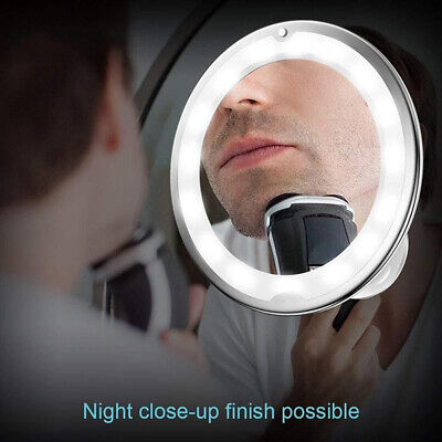 10X Magnifying Bathroom Shaving LED Makeup Mirror Wall Mounted Adjustable