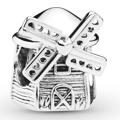 PANDORA Charm Element 798126 Windmill Windmühle Silber Bead