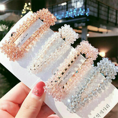 Hair Accessories Women Bling Crystal Rhinestone Hair Clip Charm Barrette Hairpin