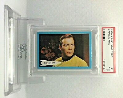 1969 Star Trek Tough Low Pop End Cards #1 and #55 NEAR-MINT 7 - A&BC garno PSA