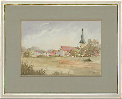 G. Scoates - Framed 20th Century Watercolour, All Saints Church, Woodford