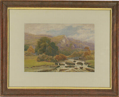 Framed Early 20th Century Watercolour - Highlands Landscape