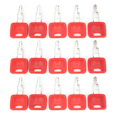 Heavy Equipment Ignition Keys for Hitachi H800 Red Excavator Key Switch Parts HC