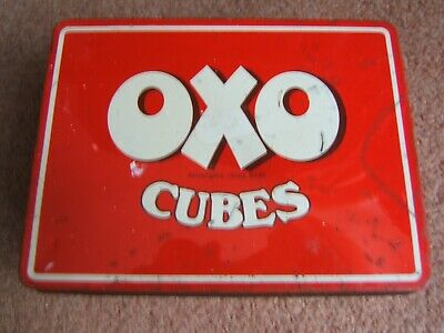 "Oxo Cube Tin - 48 Cube Size Ten Ounce  6 1/8"" By 4 5/8"" By 2"""