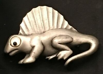 Vtg Dinosaur Stegosaurus Pewter PT Teacher Kids Kindergarten Brooch Pin Minte
