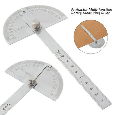 Stainless Steel 360 degree Protractor Finder Arm Measuring sickle Ruler Tool