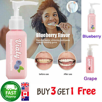Viaty Toothpaste Stain Removal Whitening Gums Fresh Toothpaste Fight Bleeding 07
