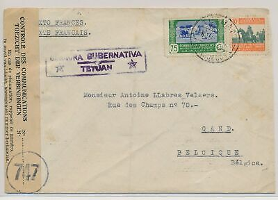 LK51418 Morocco to Gent Belgium censored cover used