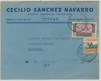 LK51419 Morocco 1946 to Brussels Belgium fine cover used