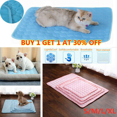 Pet Cooling Mat Cool Gel Pad Cooling Pet Bed for Summer Dog Cat Puppy S/M/L/XL