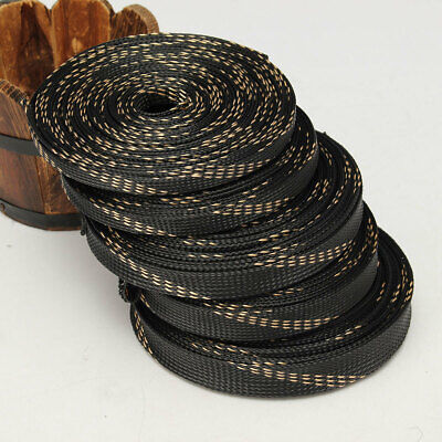 5M/10M 8-25mm PET Expandable Wire Cable Sleeving Sheathing Braided Loom Tubing