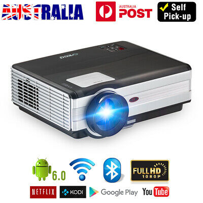 Smart Android Bluetooth LED Projector Big Screen Home Theater WiFi Game HDMI USB