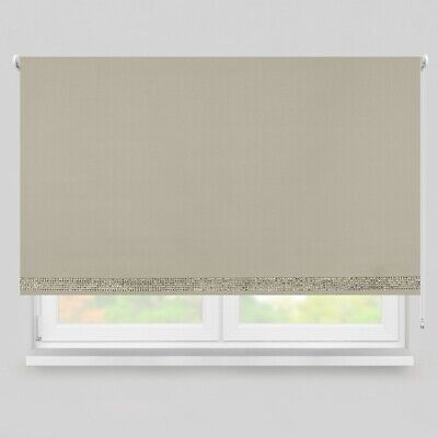 Champagne Diamante Trim - Thermal Blackout Roller Blind
