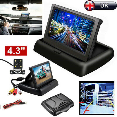 "Car 4.3"" TFT LCD Monitor+ Rear View Kit HD IR Night Vision Reversing Camera 170"