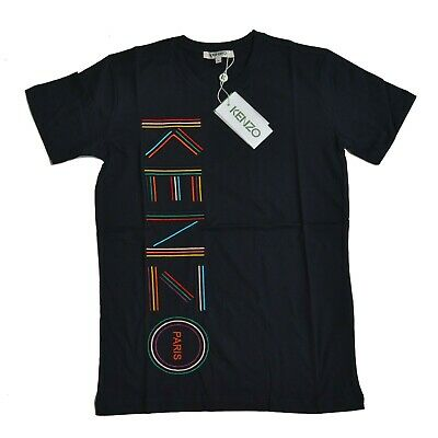 BNWT Kenzo Blue Crew Neck Embroidered T Shirt 100%Cotton