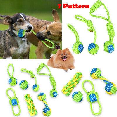 7x Braided Cotton Rope Pet Dog Interactive Toy for Dog Chew Bite Training Play