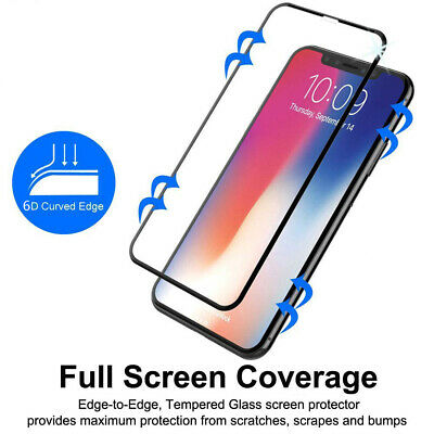 Screen Protector Tempered Glass For iPhone XS MAX XR X Full Cover Case Friendly