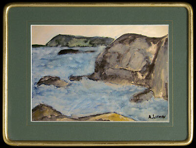 Arthur Lismer - old watercolor !!! old paper !!! Canadian painter !!!