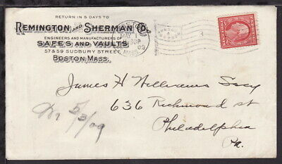 UNITED STATES 1909 Early ADVERTISING COVER SAFES & VAULTS (L238)