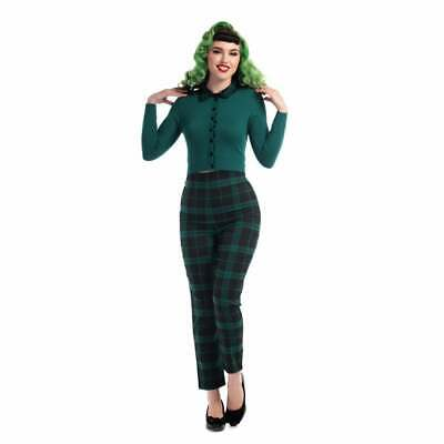 Collectif Bonnie Slither Check Trousers