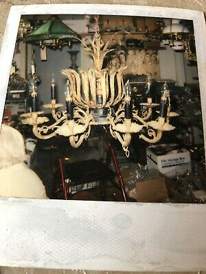 Antique Vintage Hanging Brass Lamp Chandelier Parts