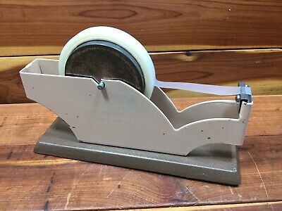 Vintage Tape Dispenser w/ Cast Iron Base - Seal-o-Matic - Large Metal Industrial