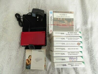 Nintendo DS Lite Handheld Console (black) with charger & games - immaculate