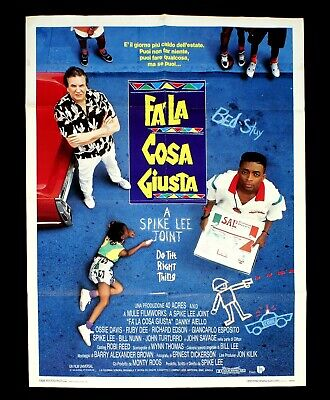 FA' LA COSA GIUSTA manifesto poster Spike Lee Aiello Do the Right Thing Pizza D7