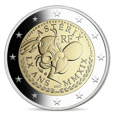2 Euro Proof Asterix Commemorative Coin Frankreich 2019 France