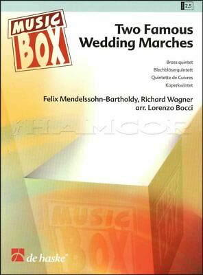 Two Famous Wedding Marches for Brass Quintet Score Parts SAME DAY DISPATCH