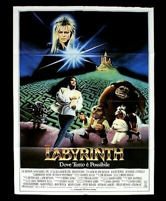 LABYRINTH manifesto poster David Bowie Jennifer Connelly Jim Henson Fantasy D7
