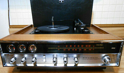 Nice Vintage Panasonic Sg-999 Am Fm Stereo Receiver W/ Record Player Working.