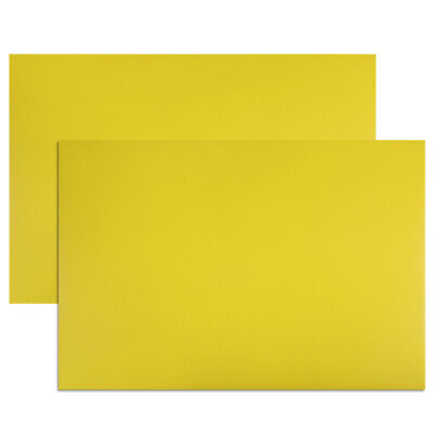 """2 Pcs Dry Erase  Magnetic Strip 11.7"""" x 8"""" Labels Stickers Yellow"""