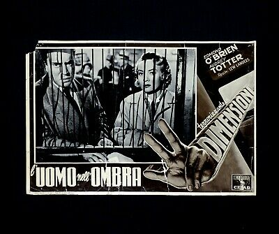 L'UOMO NELL'OMBRA fotobusta poster Edmond O'Brien Man in the Dark Tre Mano H61