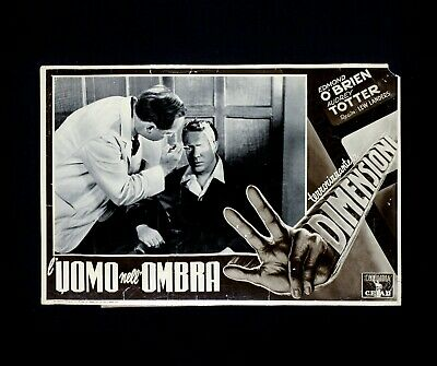 L'UOMO NELL'OMBRA fotobusta poster Edmond O'Brien Man in the Dark Tre Mano H86