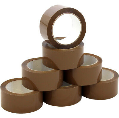 LONG LENGTH PACKING TAPE STRONG - BROWN / CLEAR / FRAGILE 45mm x 60m PARCEL tape