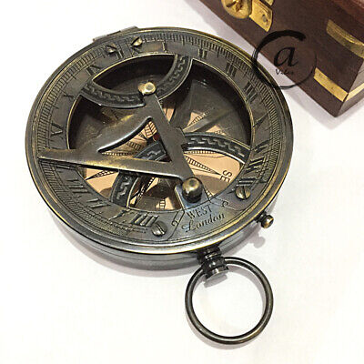 """Christmas West London Marine Nautical Compass 3"""" Brass Antiques Style Compass"""