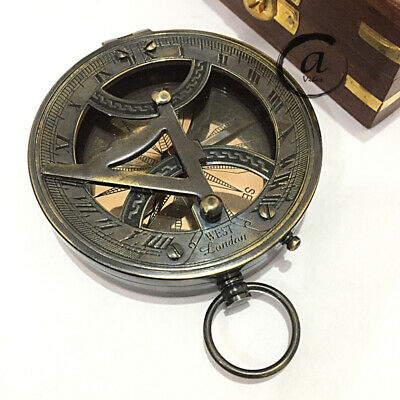 "Halloween West London Marine Nautical Compass 3"" Brass Antiques Style Compass Mi"