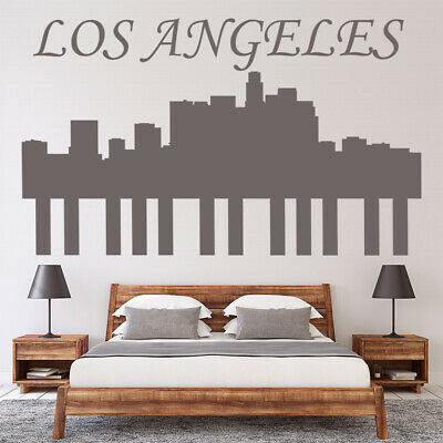 Los Angeles City Skyline Cityscape Wall Decal Sticker WS-18907