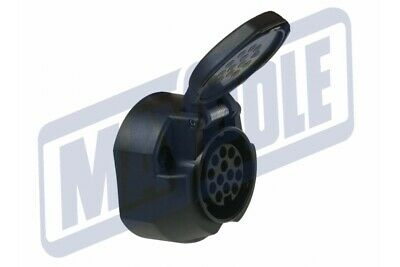 12V 13 Pin Plastic Socket With Fog Cut Out - Caravan/Trailer/Towing Mp1295B