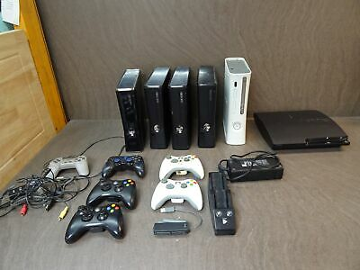 Job Lot Faulty Game Consoles Microsoft Xbox 360 Sony Playstation PS3 Controllers