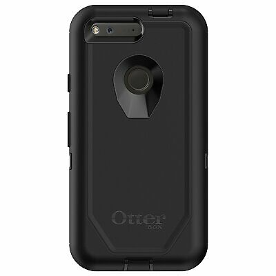 "New! Otterbox Defender Series Case for Google Pixel 5"" Black With Clip 77-54259"