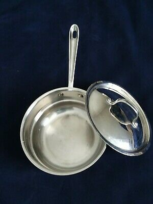"""All Clad LTD Steamer Double Boiler Insert for 8"""" Pots Pans with Lid"""