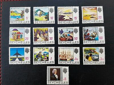 Seychelles 1969 Stamps History Part Set to 5R MNH